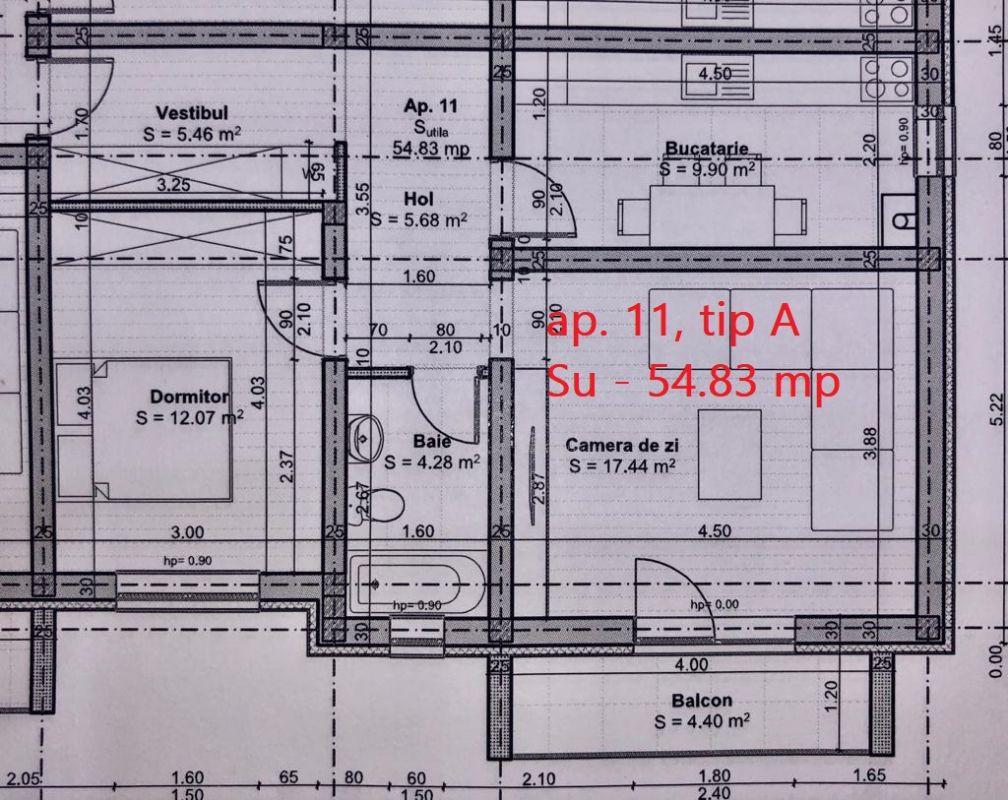 Apartament 2 camere de vanzare balcon loc de parcare in GIROC - ID V46 6