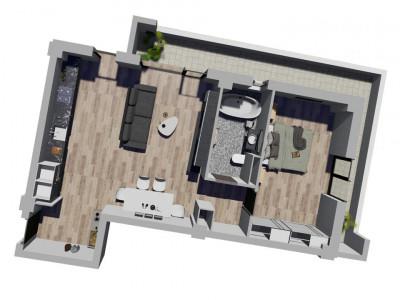 Apartament cu 2 camere - SemiDecomandat - Complex Nou si Modern in Giroc - V1664