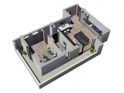 Apartament cu 2 camere - SemiDecomandat - Complex Nou si Modern in Giroc - V1661