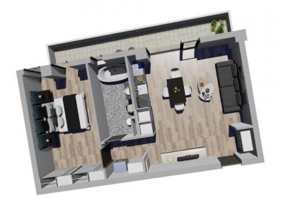 Apartament cu 2 camere - Decomandat - Complex Nou si Modern in Giroc - V1658
