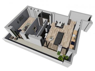 Apartament cu 2 camere - SemiDecomandat - Complex Nou si Modern in Giroc - V1665