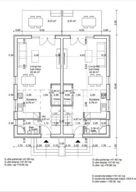 Casa tip duplex 3 camere de vanzare Mosnita Noua 5