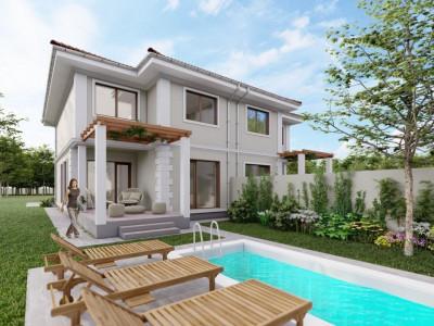 Vila cu piscina, P+1E+Pod, zona centrala, Sag