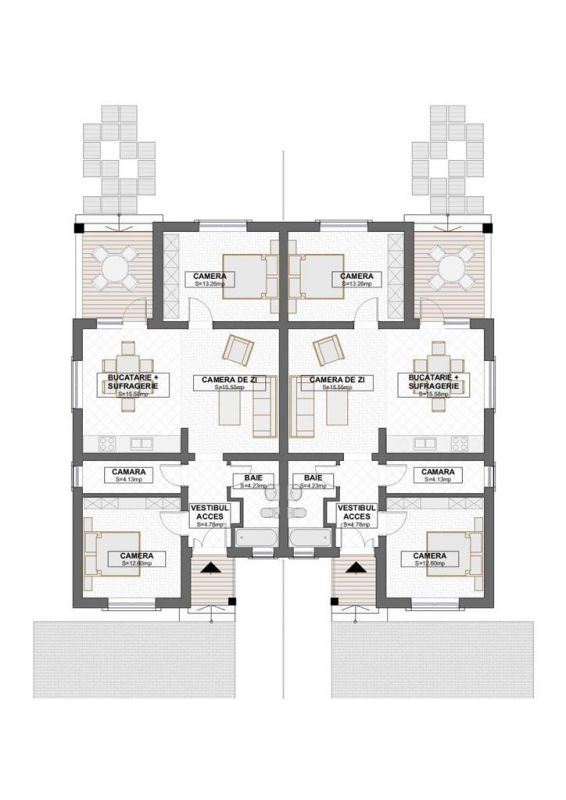 Casa tip duplex 3 camere, de vanzare,  Dumbravita zona lac - ID V406 7