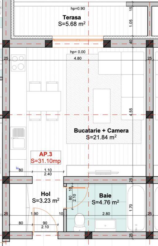 Apartament 1 camera - Etaj 2- LIDL - Giroc - ID V405 9
