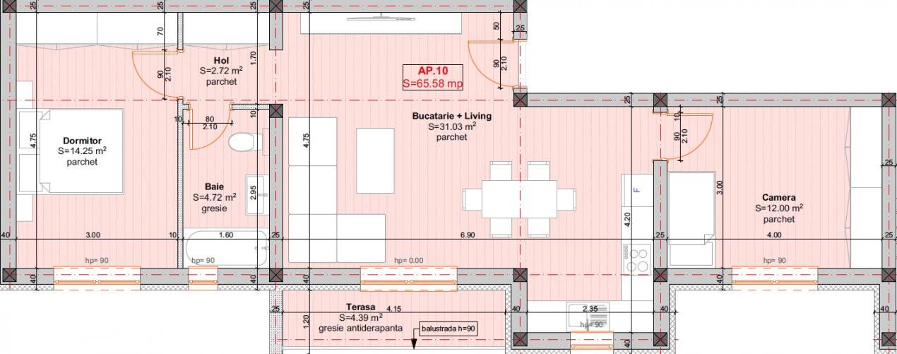DIRECT DEZVOLTATOR - Braytim, Apartament 3 Camere - 66MP - ETAJ 1 14
