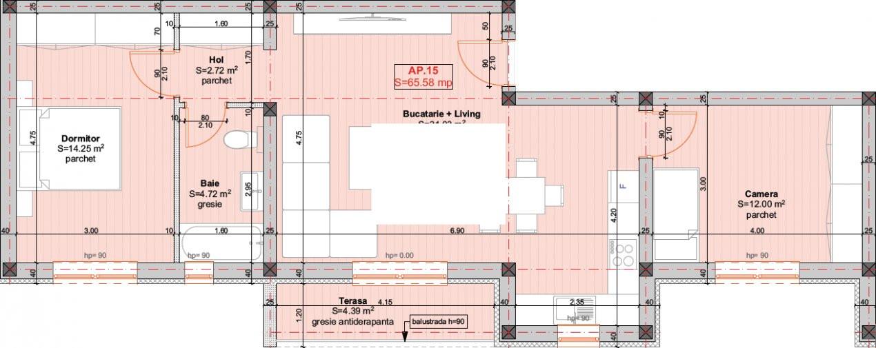 DIRECT DEZVOLTATOR - Braytim, Apartament 3 Camere - 66MP - ETAJ 2 8