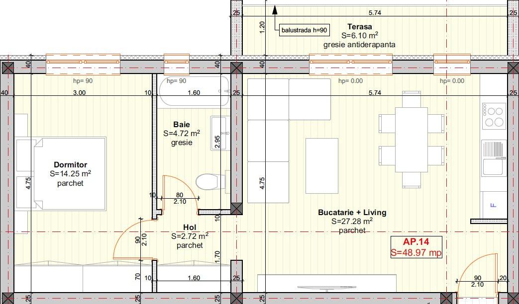 DIRECT DEZVOLTATOR - Braytim, Apartament 2 Camere - 49MP - ETAJ 2 8