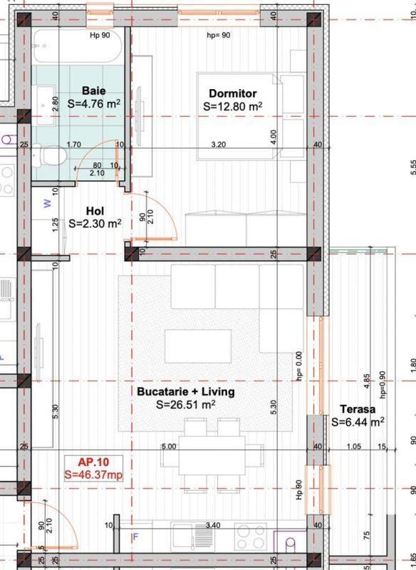 Apartament 2 camere etaj 1 Giroc - LIDL - ID V400 3