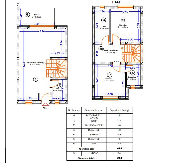 Apartament in stil englezesc 3 camere Girocului - ID V390 22
