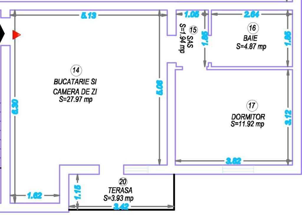 Apartament 2 camere de vanzare Giroc - ID V353 3