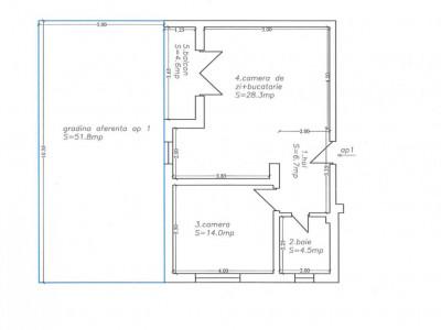 Apartament 2 Camere cu Gradina de 51 mp Mosnita