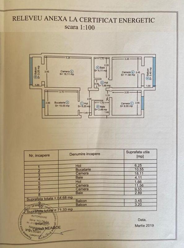 Apartament 3 camere de vanzare zona Soarelui - ID V347 13