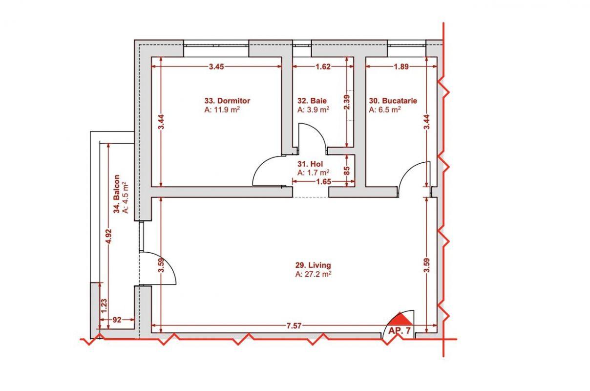 Apartament 2 camere Chisoda - Giroc - ID V329 3