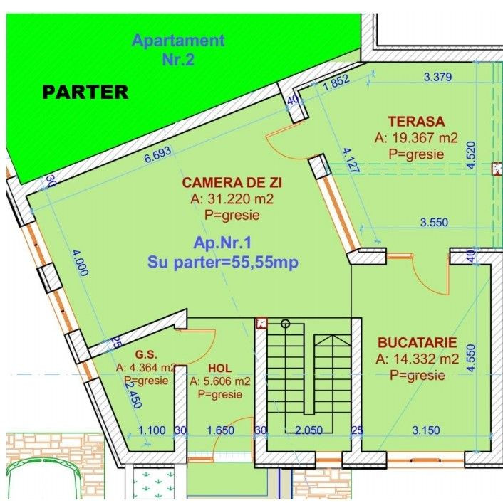 Duplex 4 camere de vanzare in Urseni - ID V234 10