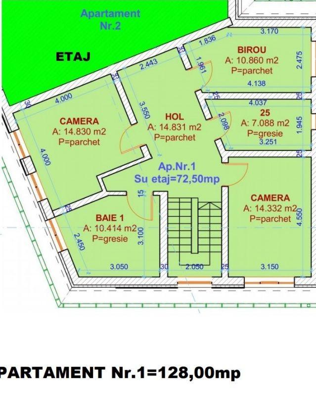 Duplex 4 camere de vanzare in Urseni - ID V234 11