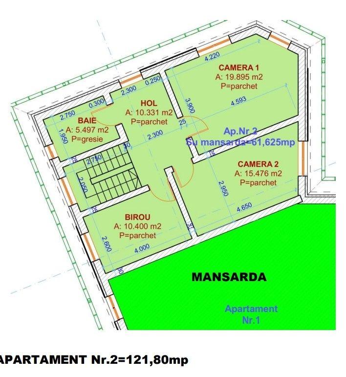 Duplex 5 camere de vanzare in Urseni - ID V233 8