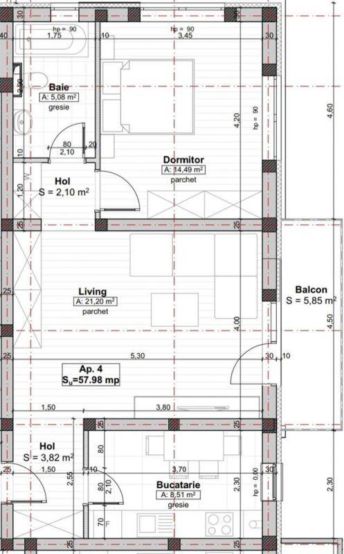 Apartament Smart 2 camere de vanzare Giroc zona centrala - ID V218 2
