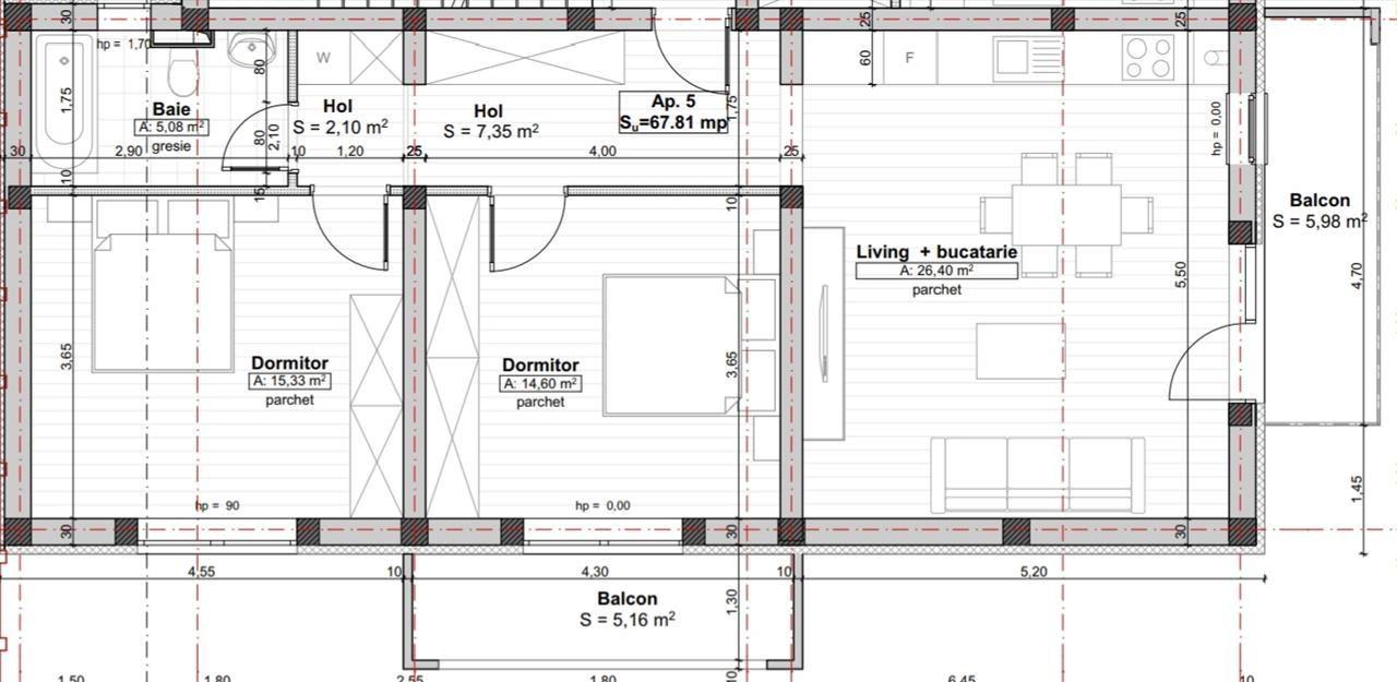 Apartament Smart 3 camere de vanzare Giroc zona centrala - ID V216 4