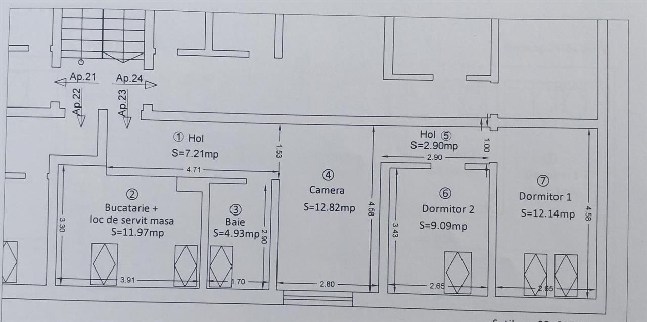 Sagului 3 camere de vanzare - ID V173 2