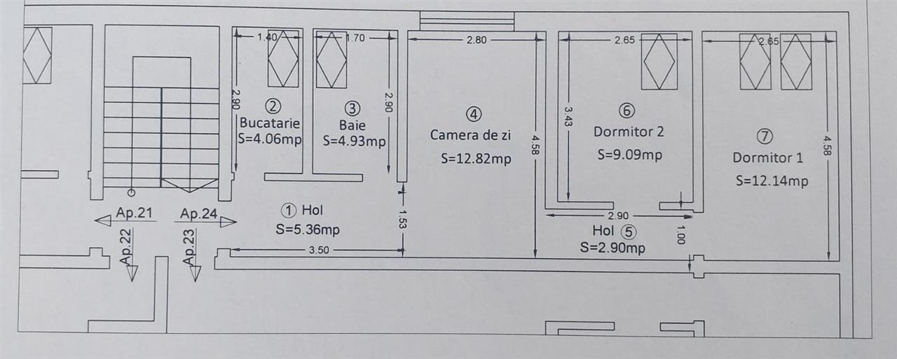 Sagului 3 camere de vanzare - ID V172 4