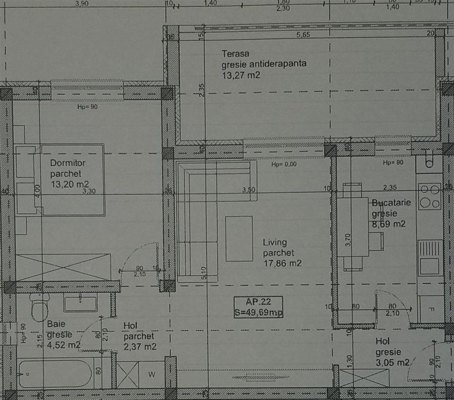3 camere + terasa de vanzare in GIROC- ID V99 3