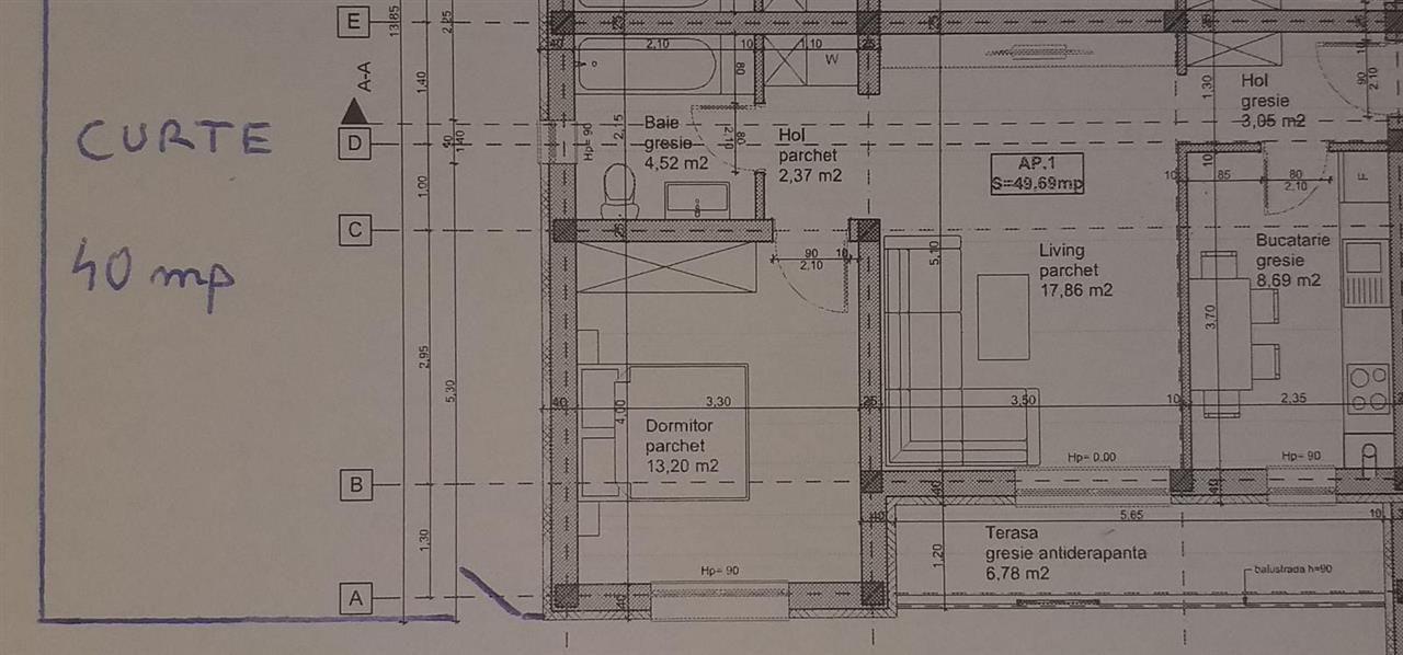 2 camere terasa + curte de vanzare in GIROC - ID V97 7