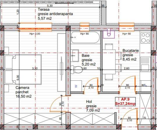 Apartament cu 1 camera+terasa de vanzare in GIROC - ID V72 3