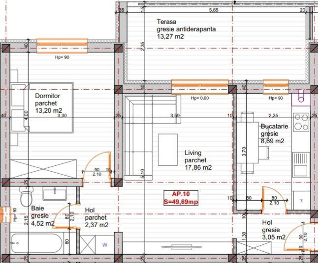 Apartament 2 camere de vanzare in GIROC- ID V68 10