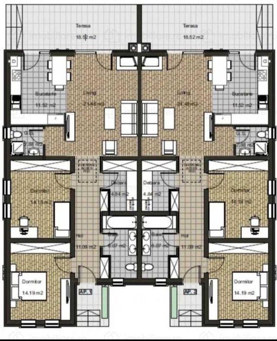 Duplex de vanzare in Mosnita Noua. 2