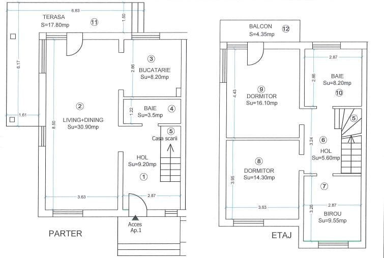 Casa tip duplex cu 4 camere de vanzare, zona Dumbravita  22