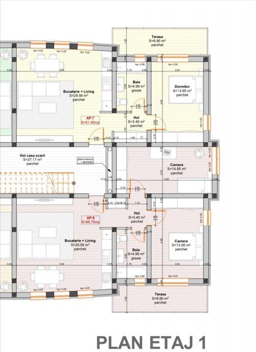 Apartament cu trei camere in Giroc. 3