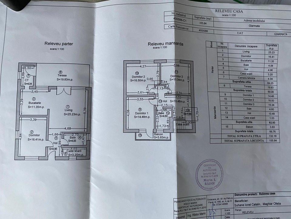Casa individuala | De vanzare | 5 camere| Giarmata Mare | 32