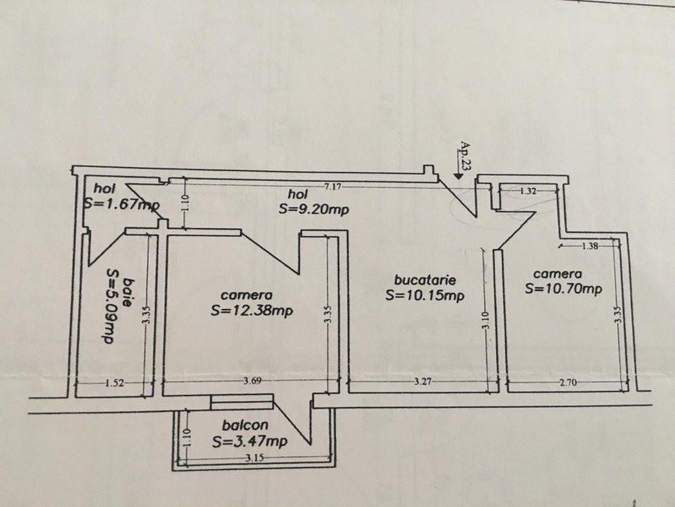 Apartament cu 2 camere, decomandat, de vanzare, zona Lipovei. 8