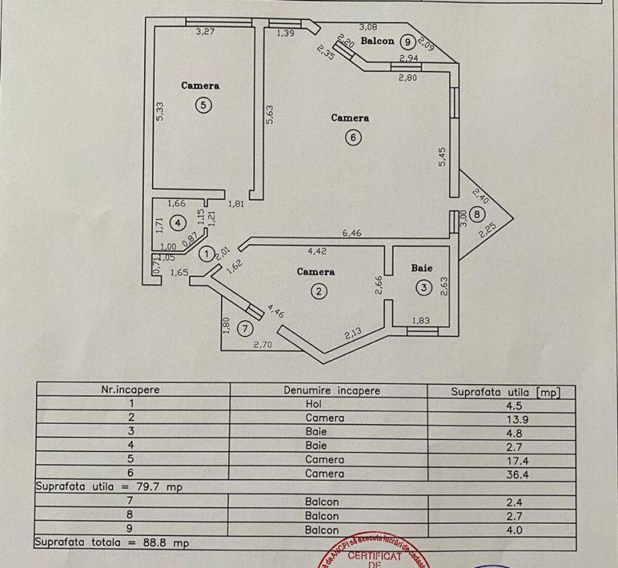 Apartament 3 camere de vanzare Zona Modern - ID V150 17