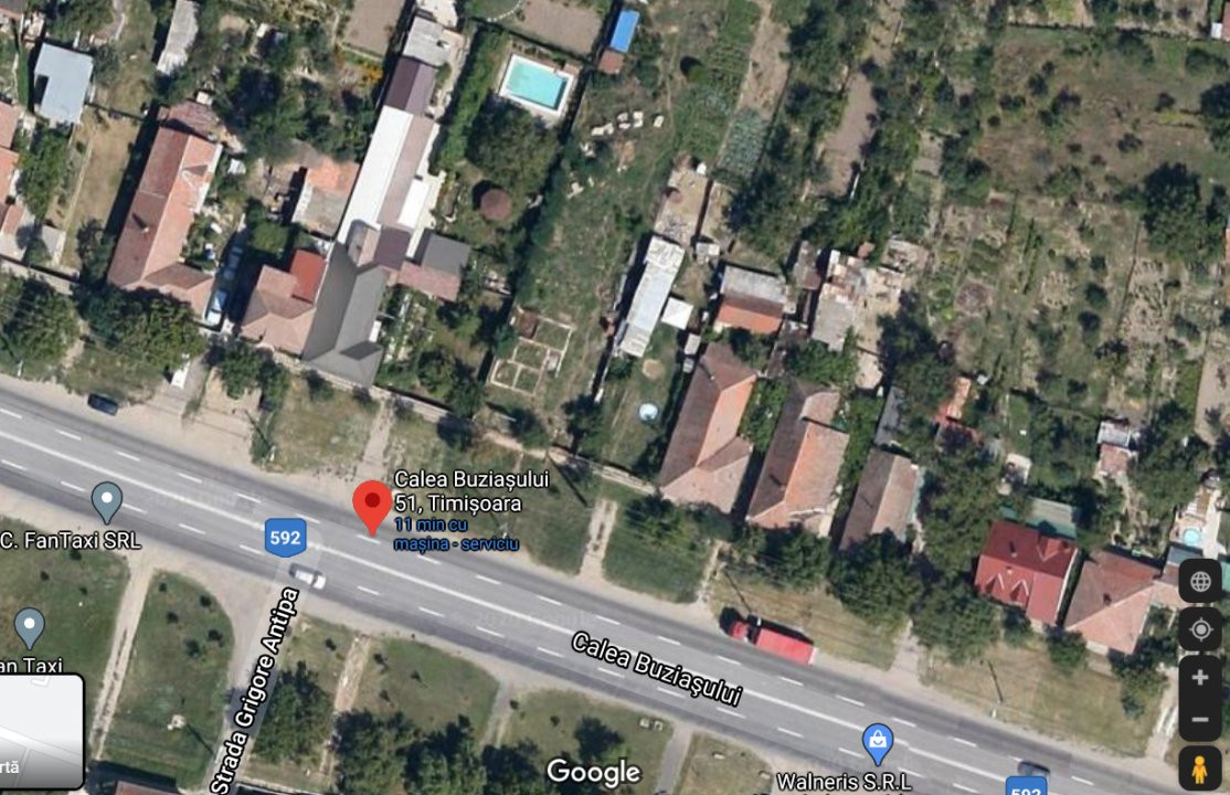 De vanzare - Teren Calea Buziasului - la drum 1