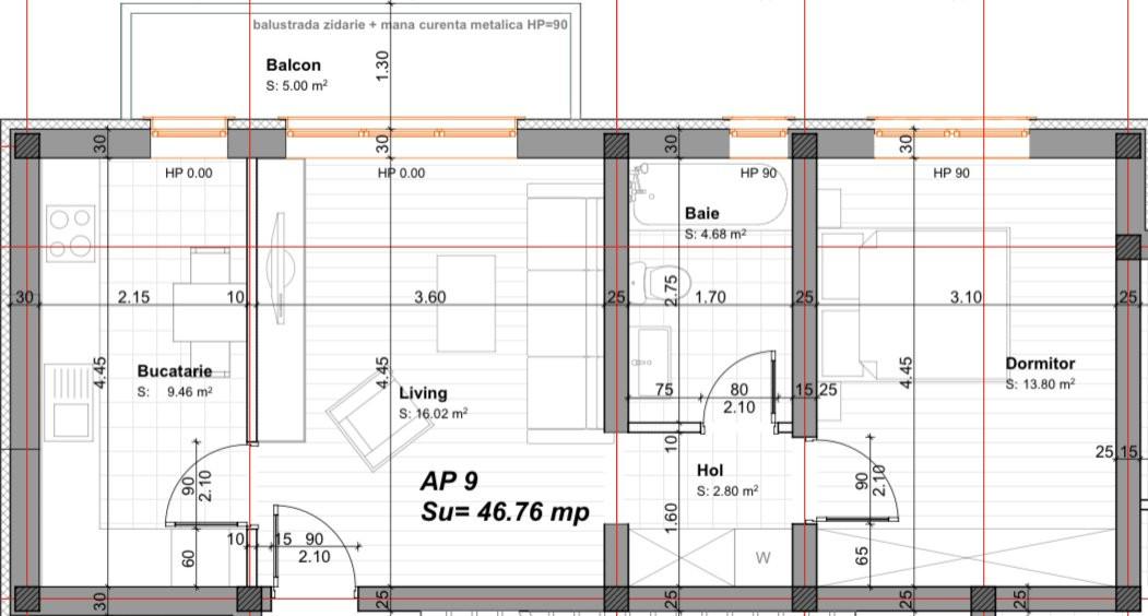Apartament cu doua camere | Finisaje de Lux | Arhitectura deosebita | Giroc 5