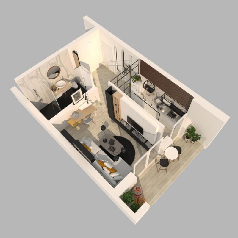 Apartament 1 camera de vanzare in Braytim - Giroc - ID V122 7