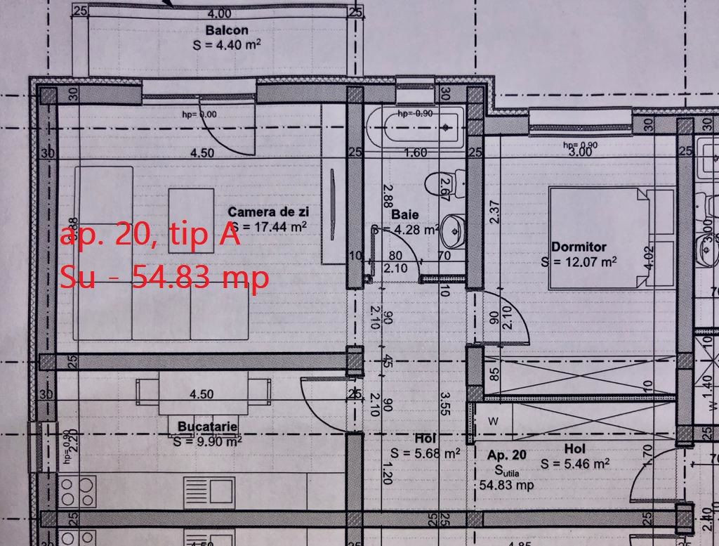 Apartament 2 camere de vanzare pod loc de parcare in GIROC - ID V49 4