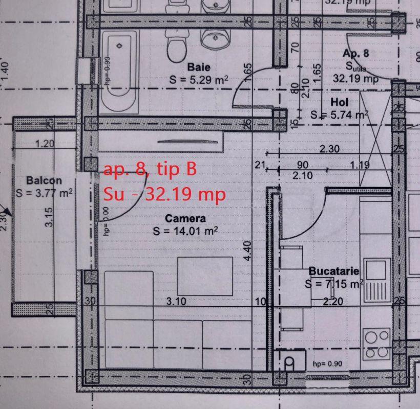 Ap. 1 camera de vanzare loc de parcare inclus GIROC- ID V55 5