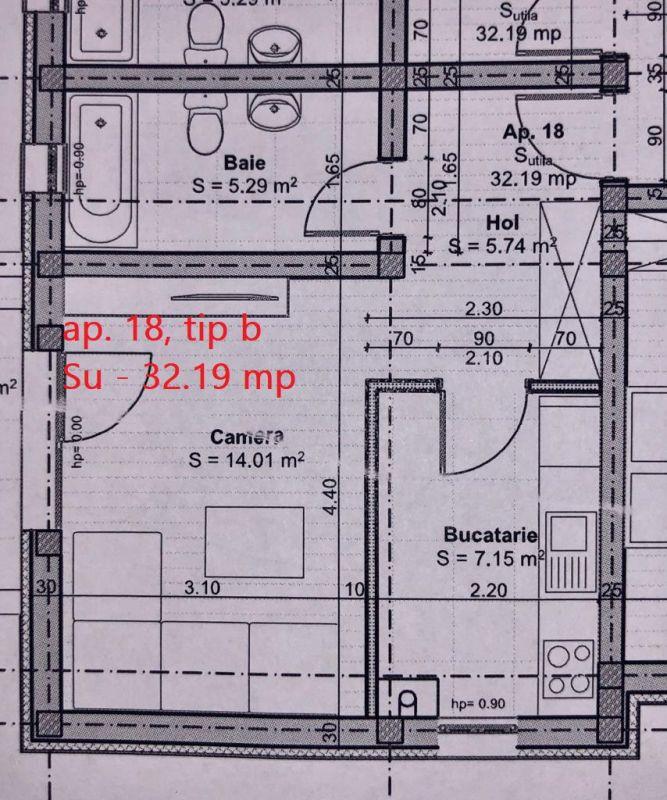 1 camera de vanzare pod in proprietate + balcon in GIROC - ID V57 6