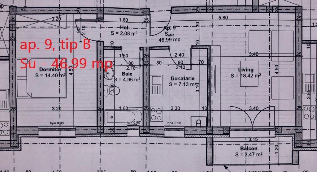 2 camere de vanzare + balcon in GIROC - ID V58 8