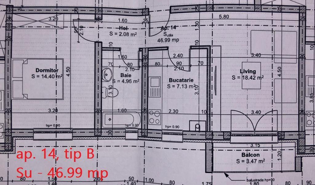 2 camere de vanzare + balcon in GIROC- ID V59 4