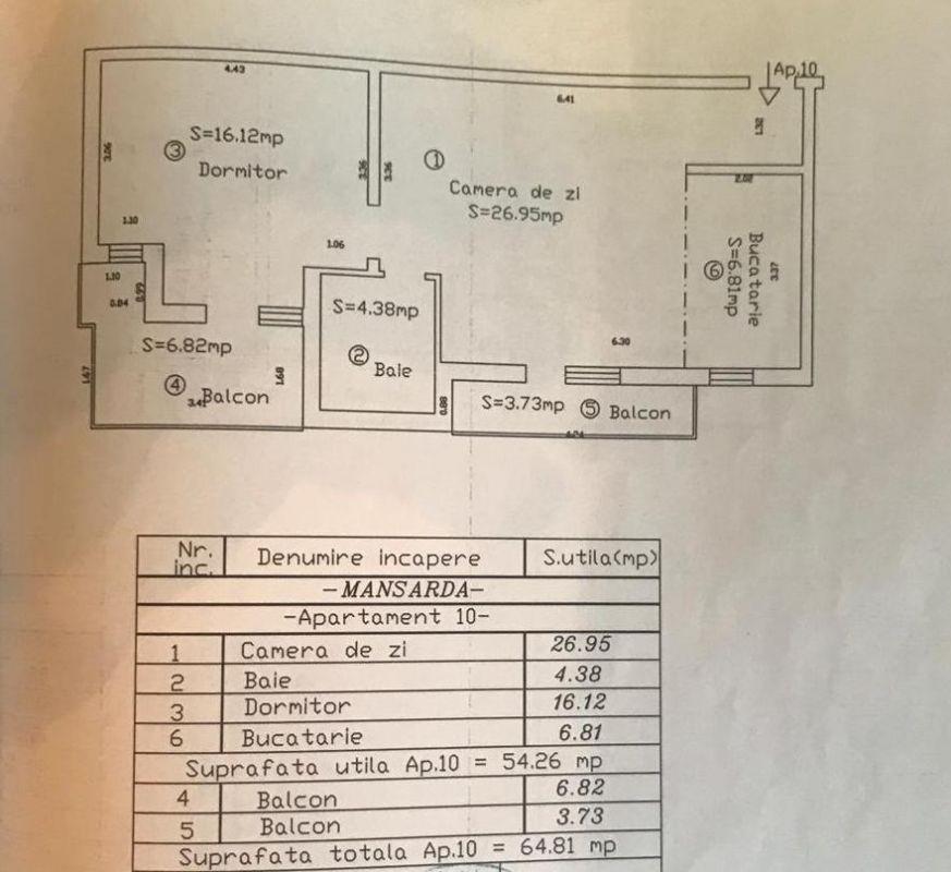 Apartament 2 camere + 2 balcoane de vanzare in GIROC- ID V85 13