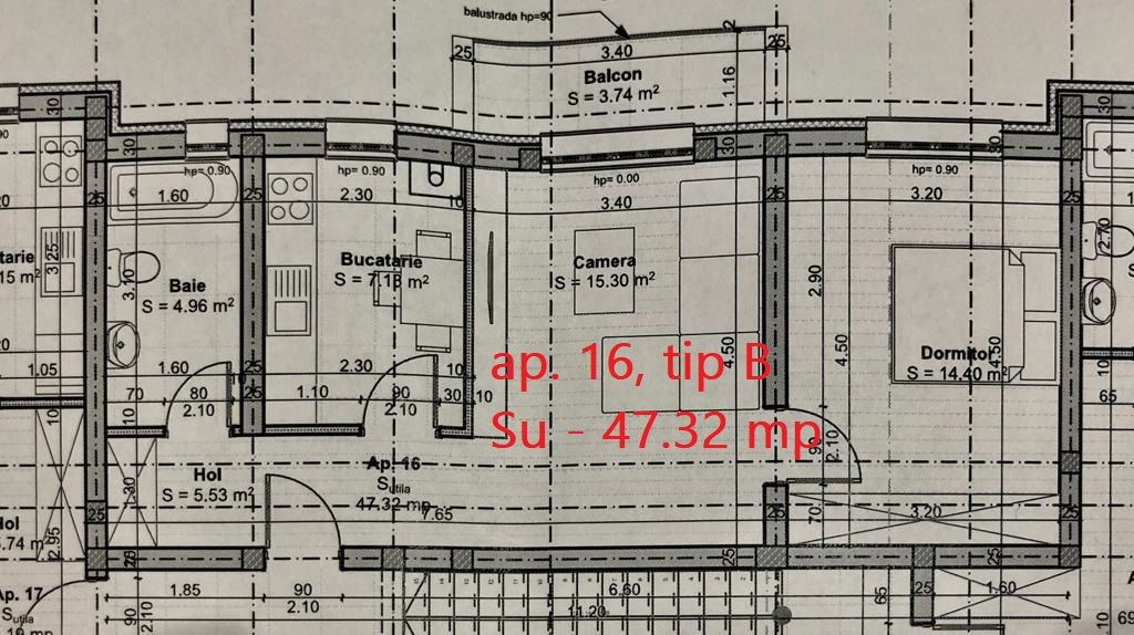 Apartament 2 camere de vanzare cu pod in proprietate GIROC - ID V34 11