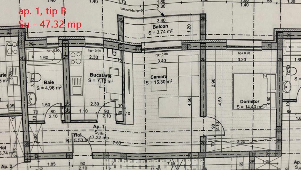 Apartament 2 camere de vanzare in GIROC - ID V35 4