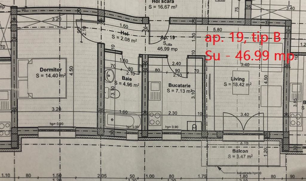 Apartament 2 camere de vanzare cu pod in cf in GIROC- ID V36 4