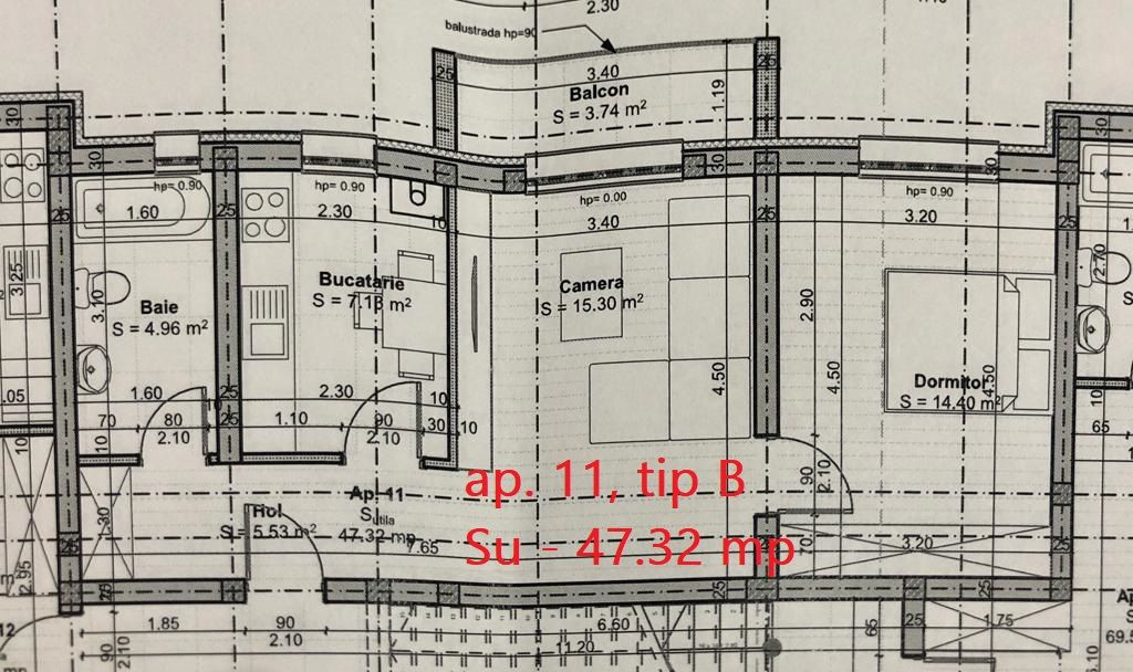 Apartament 2 camere de vanzare etaj intermediar in GIROC - ID V39 7