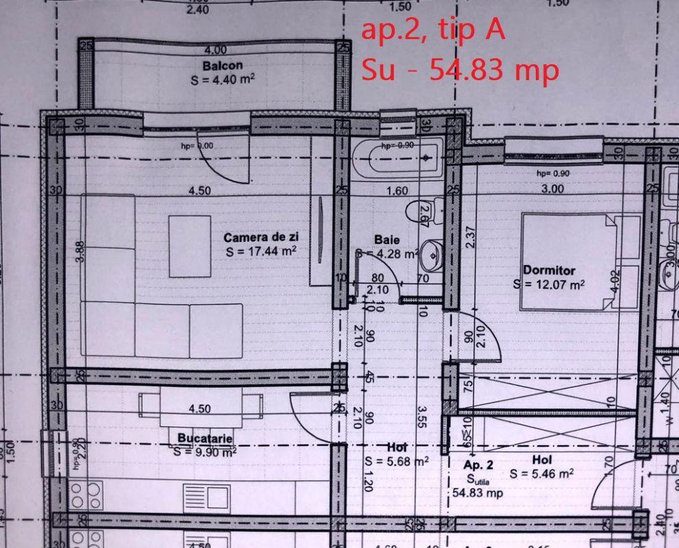 Apartament 2 camere de vanzare parcare inclusa in GIROC - ID V41 4